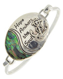 Abalone Hope Anchors the Soul Bracelet