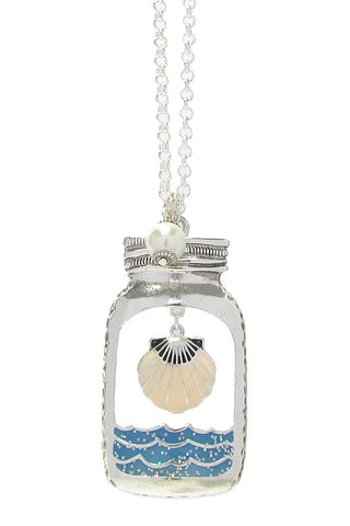 Sea Shell in a Bottle Necklace