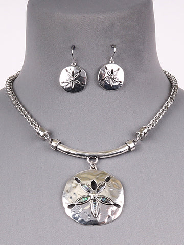Sand Dollar Necklace Set