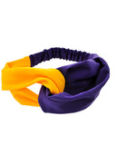 Yellow and Purple Headband