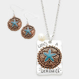 Life's a Beach Starfish Necklace Set