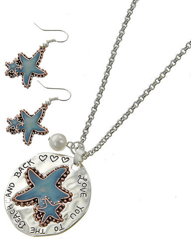Love You to the Beach and Back Starfish Necklace Set