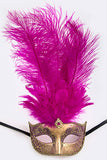 Fuchsia and Gold Mardi Gras Mask