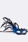 Blue and Black Mardi Gras Mask