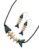 Fish Bone Necklace Set