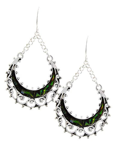 Filigree Abalone Earrings
