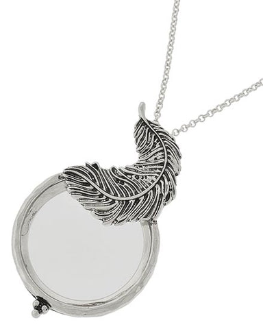 Feather Magnifying Glass Necklace