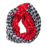 Crimson and Houndstooth Infinty Scarf