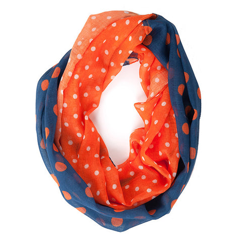 Navy and Orange Infinty Scarf