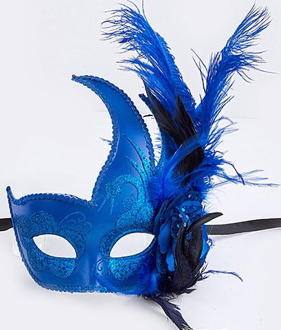 Royal Blue Mardi Gras Mask
