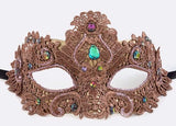 Copper Lace Mardi Gras Mask