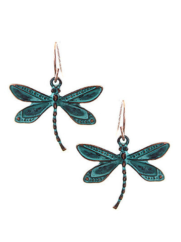 Patina Dragonfly Earrings