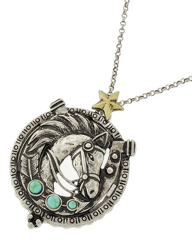 Horse Magnifying Glass Necklace