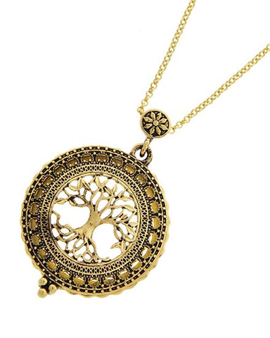 Tree of Life Magnifying Glass Necklace