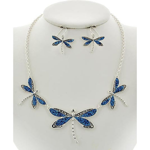 Dragonfly Necklace and Earring Set