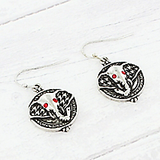Houndstooth Elephant Earrings