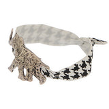 Houndtooth Hair Band/Bracelet