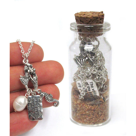 Sea Life Necklace in a Bottle