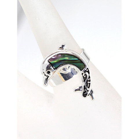 Abalone Dolphin Ring