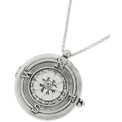 Compass Magnifying Glass Necklace