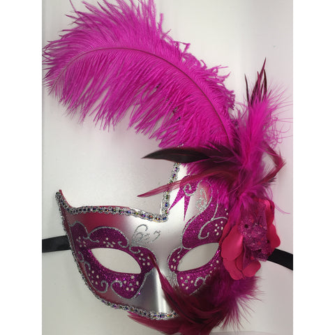 Pink and Silver Mask