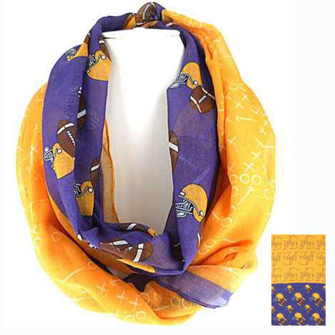 Purple and Yellow Infinity Scarf