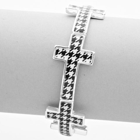 Houndstooth Cross Bracelet