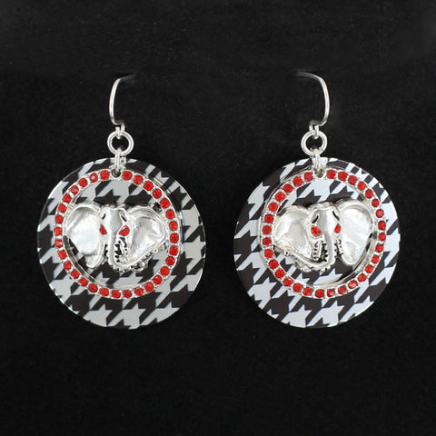 Houndstooth Elephant Earrings.