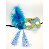 Blue and Gold Mardi Gras Mask