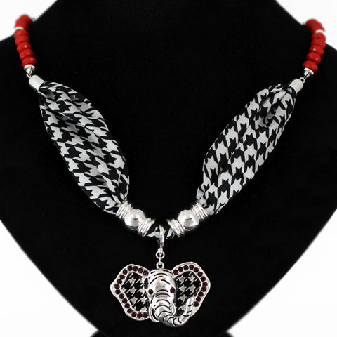 Houndstooth Elephant Necklace