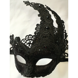 Black Lace Mardi Gras Mask