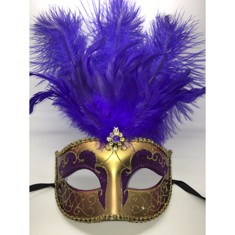 Purple and Gold Mardi Gras Mask