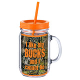 I  Like Big Bucks  Mason Jar Cup
