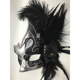 Black and Silver Mardi Gras Mask