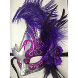 Purple and Silver Mardi Gras Mask