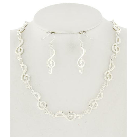 Music Note Necklace Set