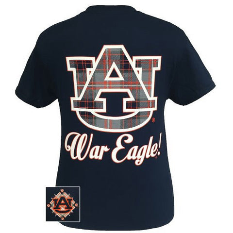 Auburn Tigers Plaid Logo T-Shirt
