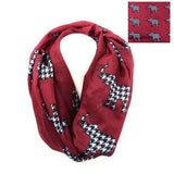 Houndstooth Elephant Infinity Scarf