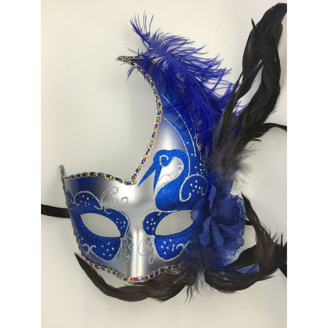 Blue and Silver Mardi Gras Mask