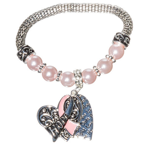 Pink Ribbon Hope Bracelet