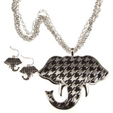 Houndstooth Elephant Necklace Set