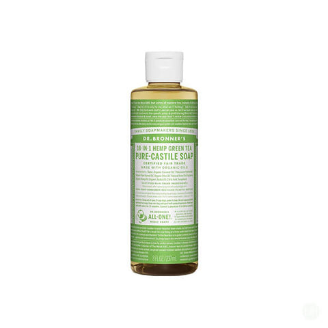 Dr Bronner Organic Hemp Green Tea Castile Liquid Soap