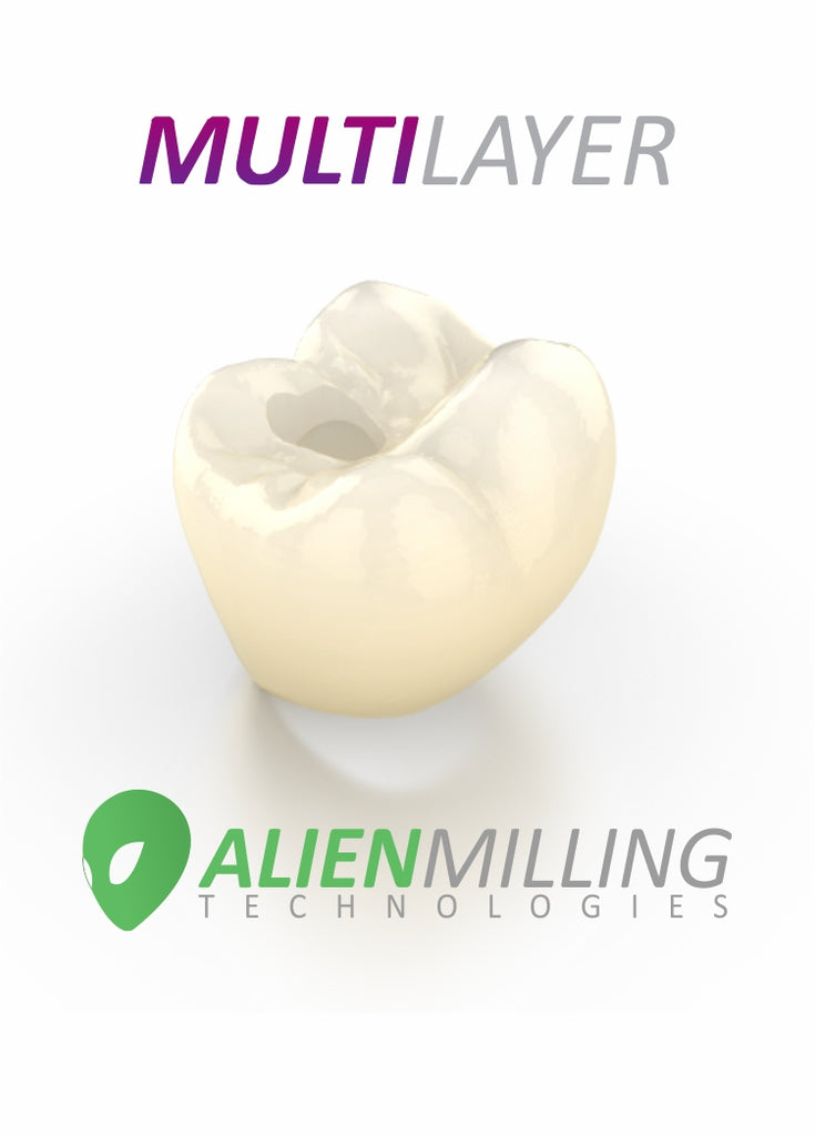 Alien Multi-Layer Implant Zirconia Crown