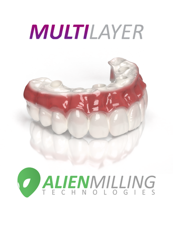 Alien Multi-Layer Implant Full Arch Hybrid Zirconia