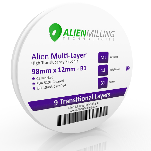 Alien Multi-Layer 98mm Zirconia Disc