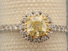 GIA Fancy Yellow Diamond Engagement Ring