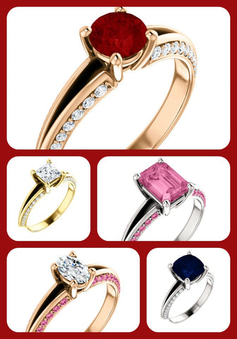 Different rings from Chimera online jewelry design