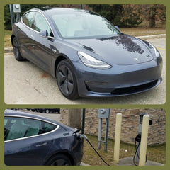 Charge your EV for FREE right behind Chimera Design in Lowell.