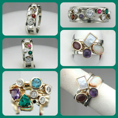 Custom Gemstone Rings From Julie Claire DeVoe at Chimera Design
