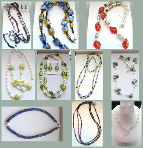 Gemstone Beads, pearls and all around Funky, Fun jewelry.